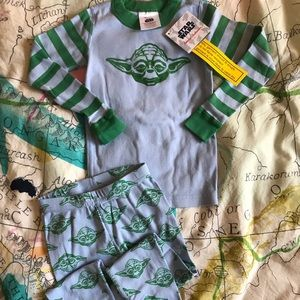 SOLD Hanna Andersson Yoda Star Wars Pajamas 90 3T